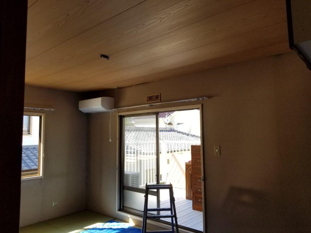 和室の壁紙張替えの施工前
