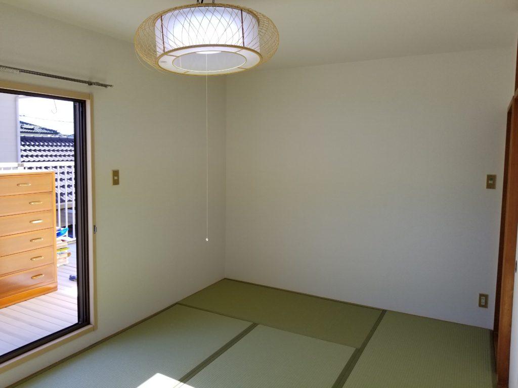 和室の壁紙張替え施工後