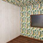 寝室の壁紙の施工後