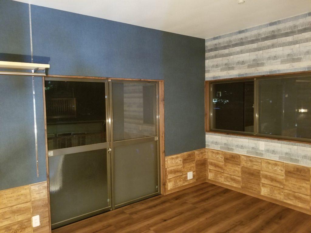 洋室の壁紙の施工後