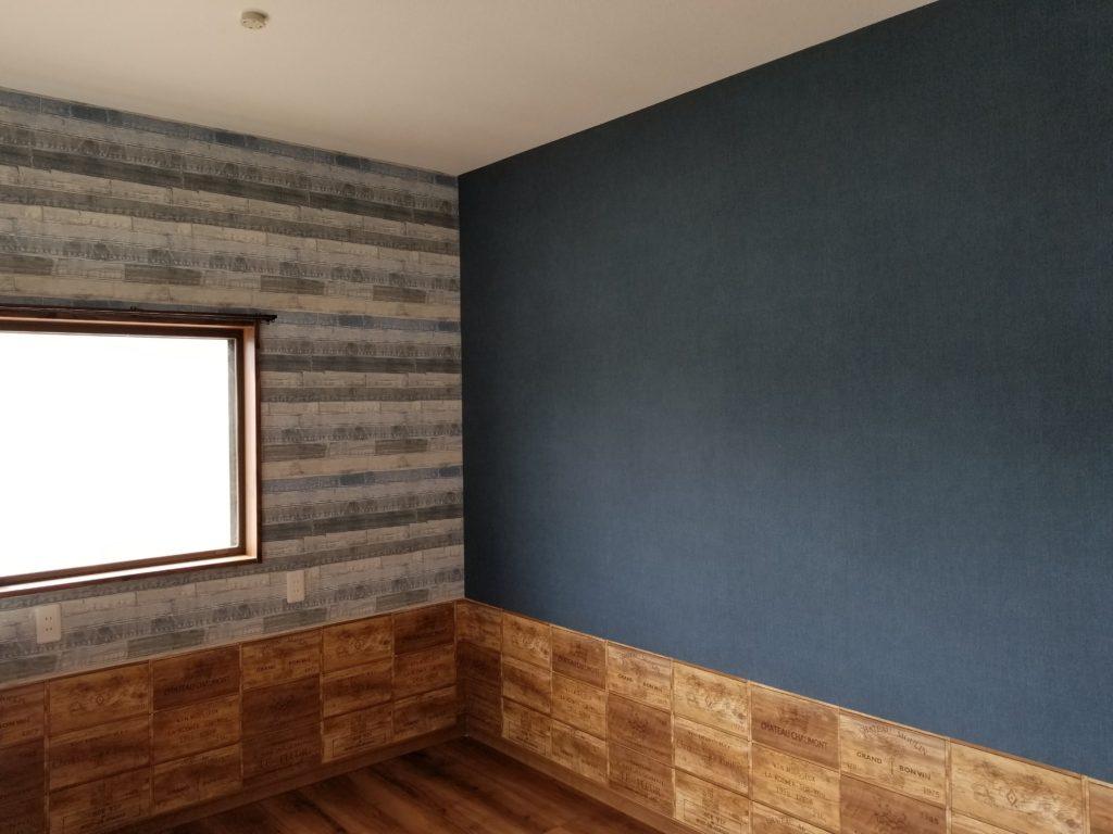 長崎市で洋室のこだわりの壁紙張替えリフォーム 長崎壁紙 クロス