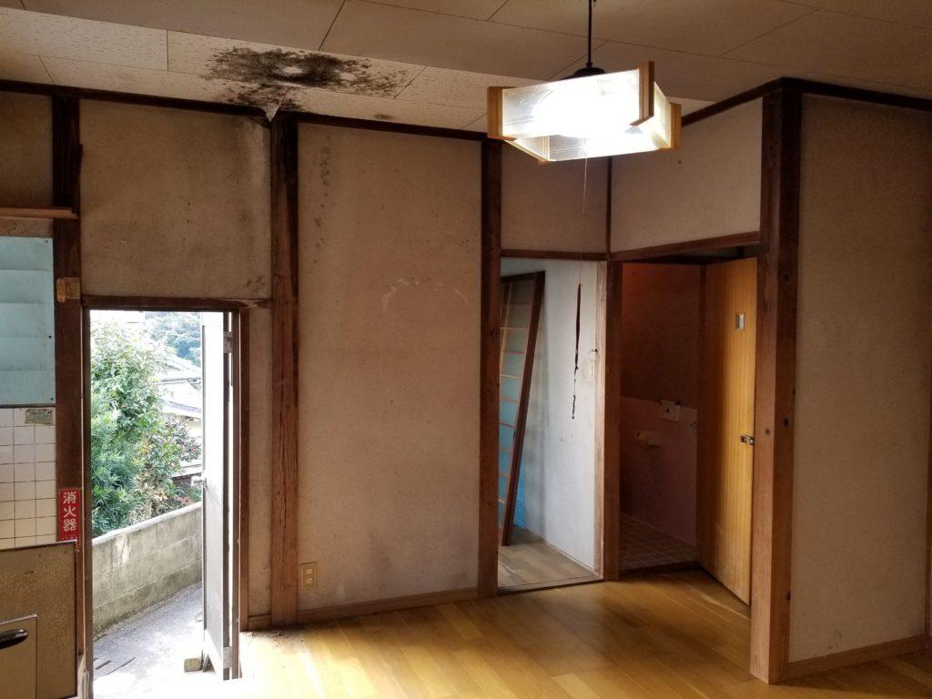 台所の内装リフォームの施工前