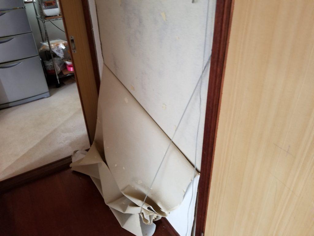 内装壁紙の施工前