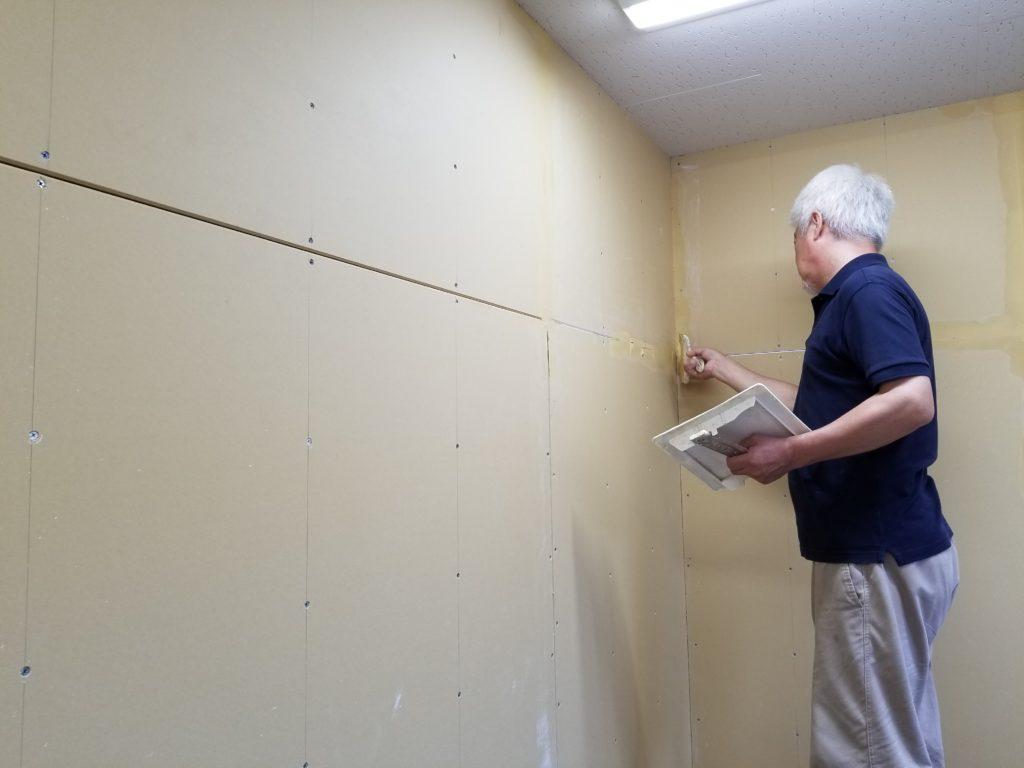 間仕切り壁の下地処理