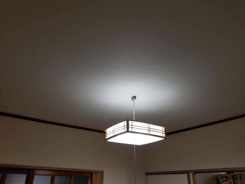 和室の天井クロスリフォームの施工後