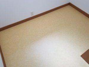 書斎の床張替えリフォームの施工後